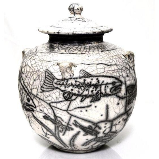 TROUT DESIGN RAKU JAR