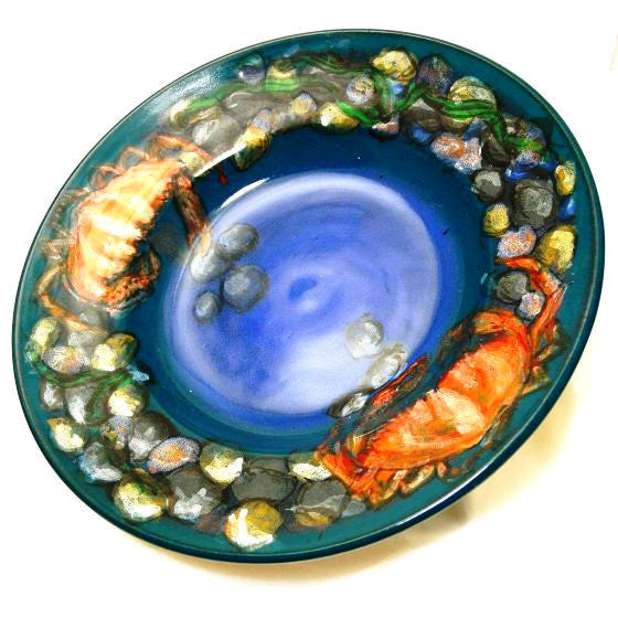 CRAB AND SHELLFISH DESIGN BOWL - Side Street Studio