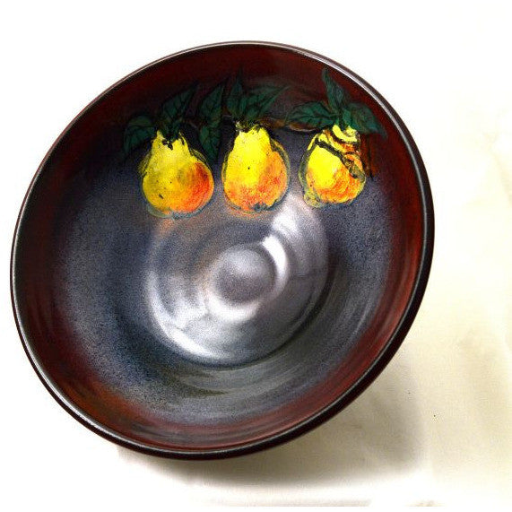 LARGE PEAR DESIGN BOWL - Side Street Studio - 1