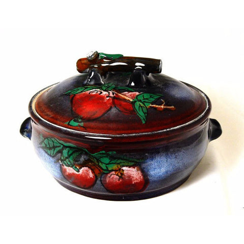 APPLE DESIGN CASSEROLE DISH - Side Street Studio - 1
