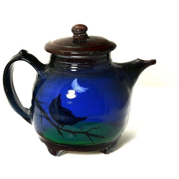 CROW AND MOON DESIGN TEAPOT