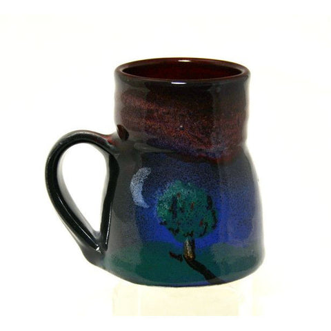 SMALL WIDE BASED TREE AND MOON MUG - Side Street Studio