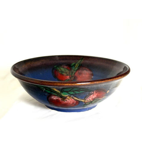 RED APPLE DESIGN SERVING BOWL - Side Street Studio - 1
