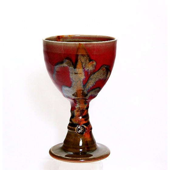 RUBY/OLIVE GOBLET - Side Street Studio