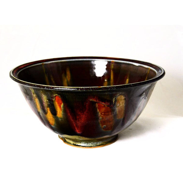 BURGUNDY SERVING BOWL - Side Street Studio - 1