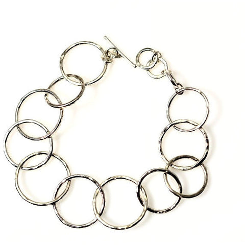 HARMONY STERLING SILVER TEXTURED RINGS BRACELET - Side Street Studio