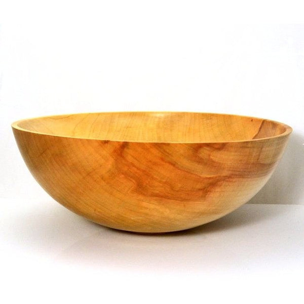 SILVER MAPLE WOOD SALAD BOWL - LARGE