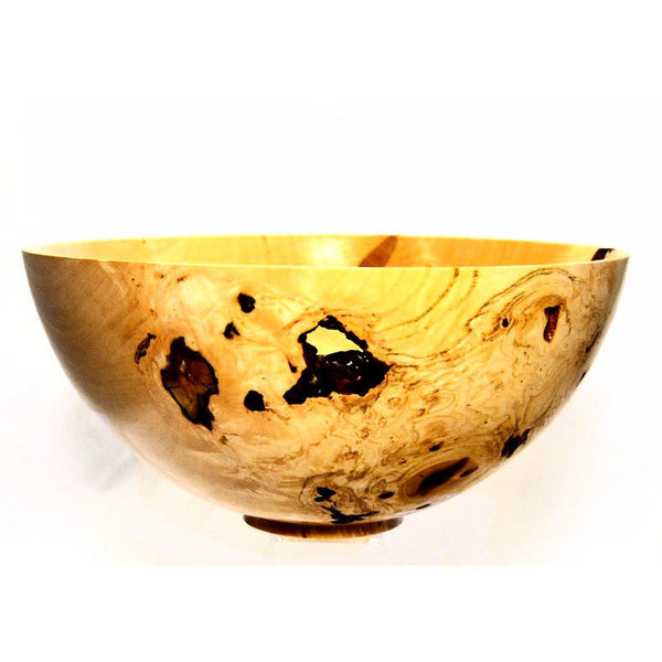 SILVER MAPLE WOOD FRUIT BOWL - Side Street Studio - 1