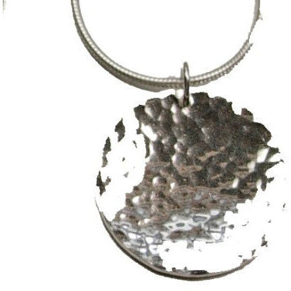 TEXTURED LITTLE MOON NECKLACE - Side Street Studio