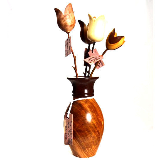 RED CEDAR BURL  & BLACK WALNUT VASE - Side Street Studio
