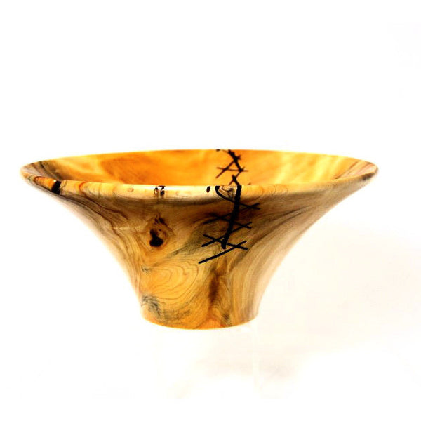 YELLOW CEDAR BURL WOOD BOWL - Side Street Studio