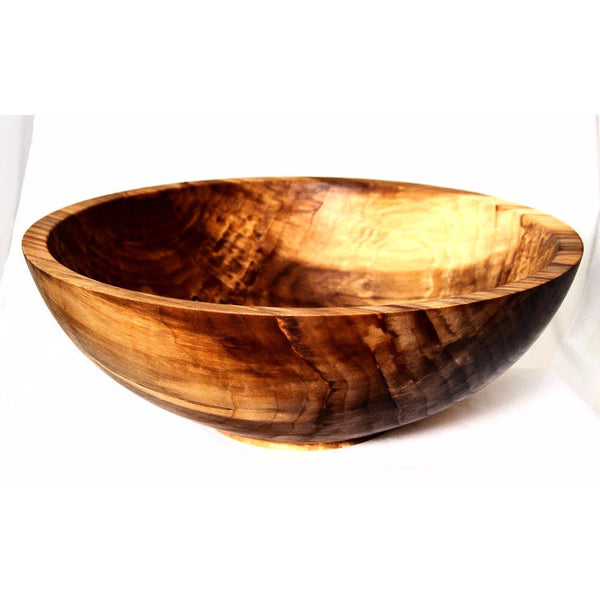LARGE SPALTED MAPLE WOOD SALAD BOWL - Side Street Studio - 1