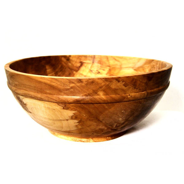 SPALTED MAPLE WOOD SALAD BOWL - Side Street Studio - 1