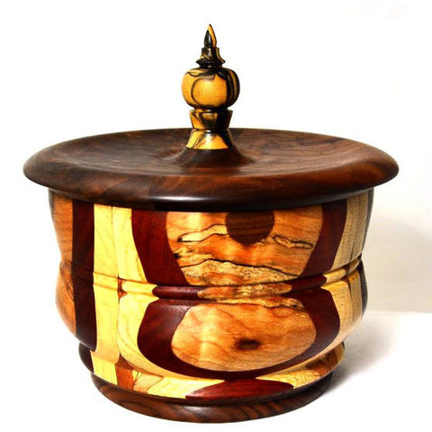INLAID WOOD LIDDED BOX - Side Street Studio - 1