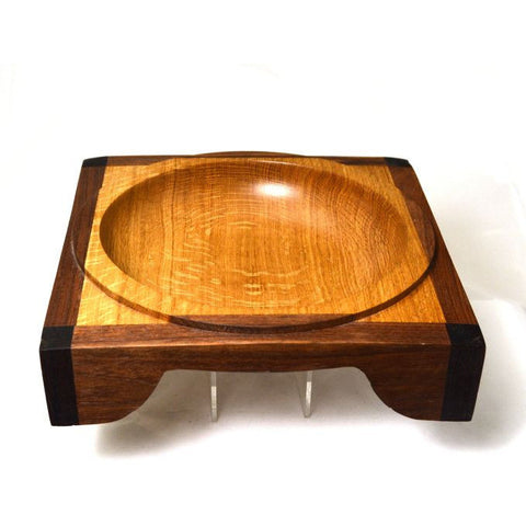 SQUARE WOODEN BOWL - Side Street Studio