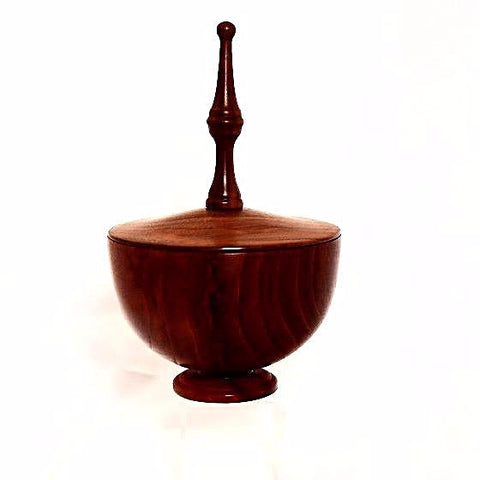 CHERRY AND WALNUT LIDDED BOWL - Side Street Studio - 1