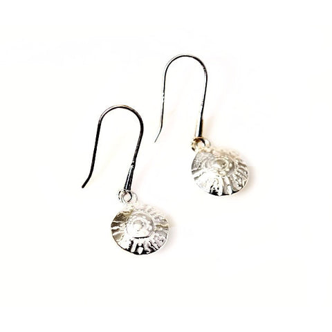 STERLING SILVER LENTIL  EARRINGS - Side Street Studio