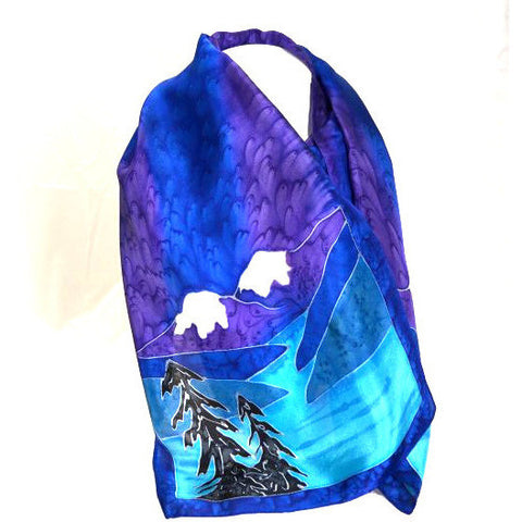 BC COAST DESIGN SILK SCARF