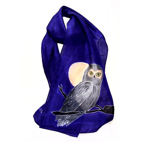 OWL DESIGN SILK SCARF - Side Street Studio
