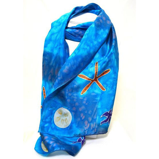 STARFISH DESIGN SILK SCARF - Side Street Studio
