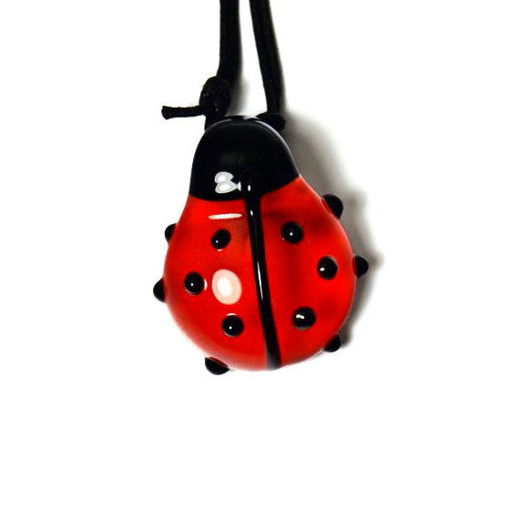 LADYBUG GLASS PENDANT - Side Street Studio
