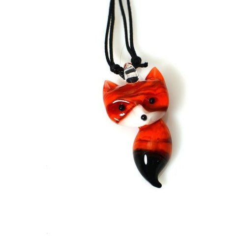 RED FOX GLASS PENDANT