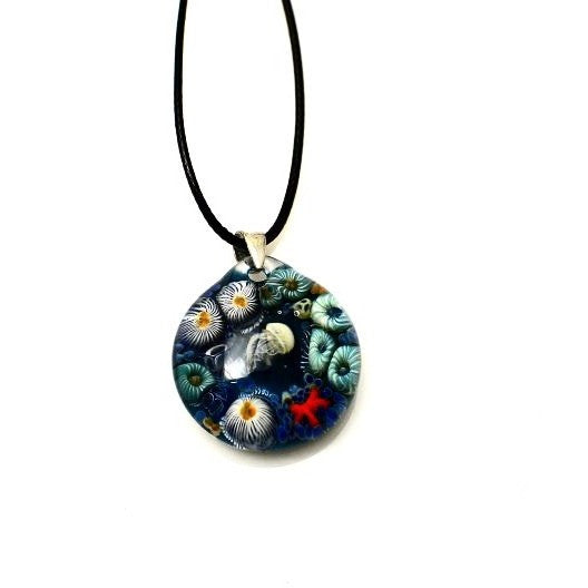 TIDAL POOL GLASS PENDANT NECKLACE - Side Street Studio