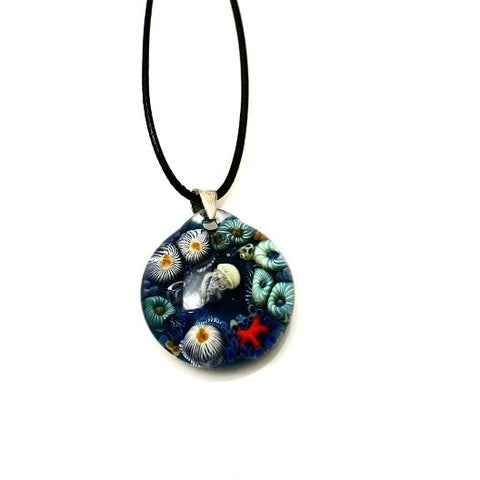 TIDAL POOL GLASS PENDANT NECKLACE