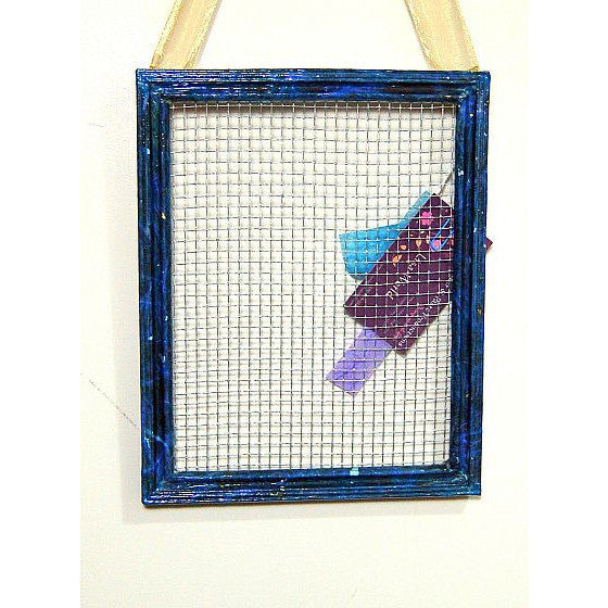DECUPAGE EARRING FRAME WITH RIBBON - Side Street Studio