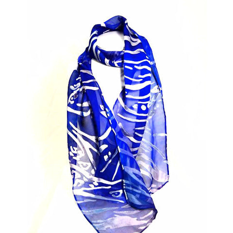 DEVORE SILK AND RAYON SCARF - Side Street Studio
