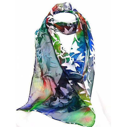 DEVORE SILK & RAYON SCARF - Side Street Studio