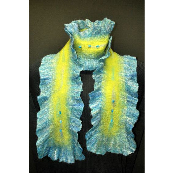 BY THE SEA FELTED SCARF