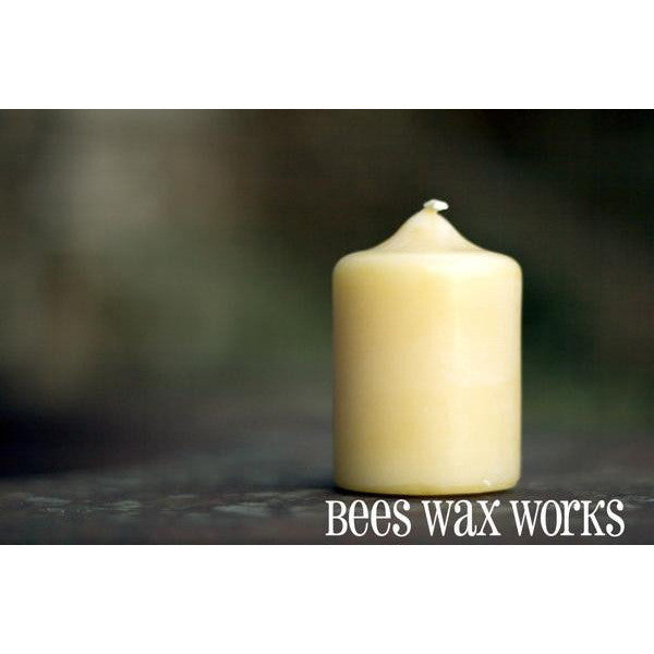 PURE BEESWAX 2 INCH PILLAR CANDLE - Side Street Studio