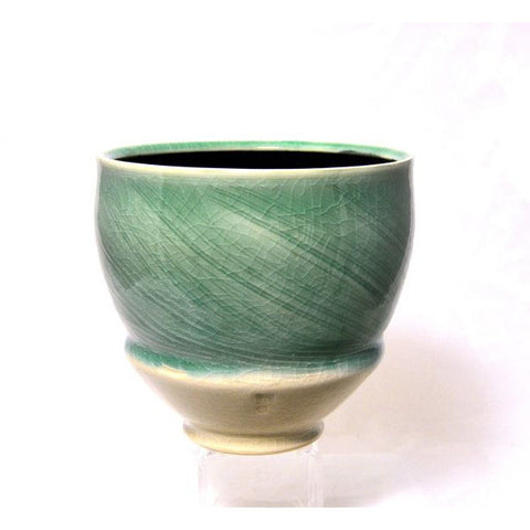 CELADON GLAZE BOWL - Side Street Studio