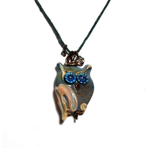 OWL DESIGN GLASS PENDANT - Side Street Studio
