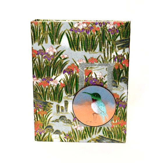 HUMMINGBIRD DESIGN ENAMELLED NOTEBOOK - Side Street Studio
