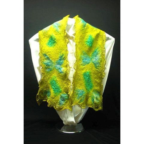 FLUTTER BY HAND FELTED SCARF - Side Street Studio