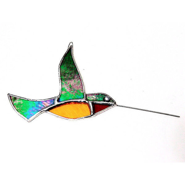 HUMMINGBIRD GLASS HANGING - Side Street Studio