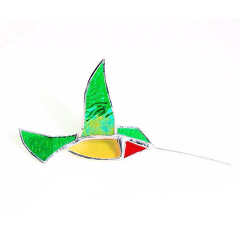 3 D HUMMINGBIRD GLASS HANGING - Side Street Studio