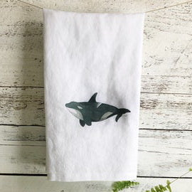 Orca Tea Towels by Emma Pyle