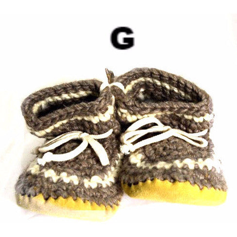 LADIES WOOL SLIPPERS - LARGE - Side Street Studio - 1
