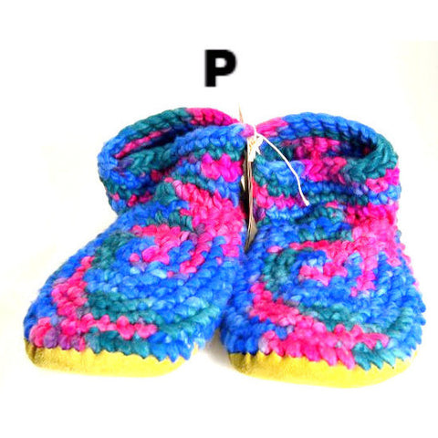 LADIES WOOL SLIPPERS - XL - Side Street Studio - 1