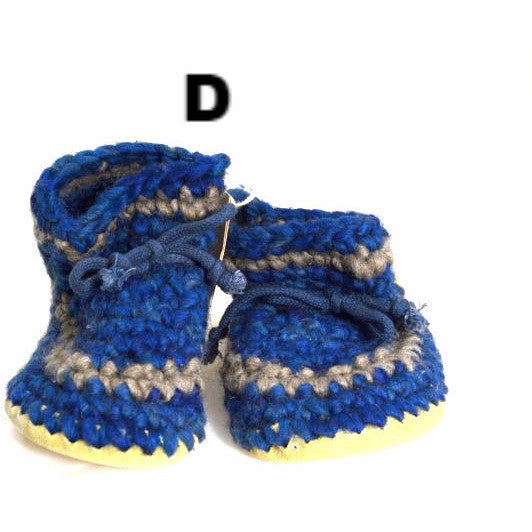 YOUTH'S WOOL SLIPPERS - SIZE 3 - Side Street Studio - 1