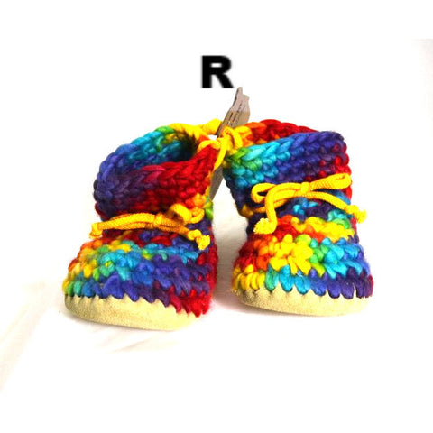YOUTH'S WOOL SLIPPERS - SIZE 1 - Side Street Studio  - 1
