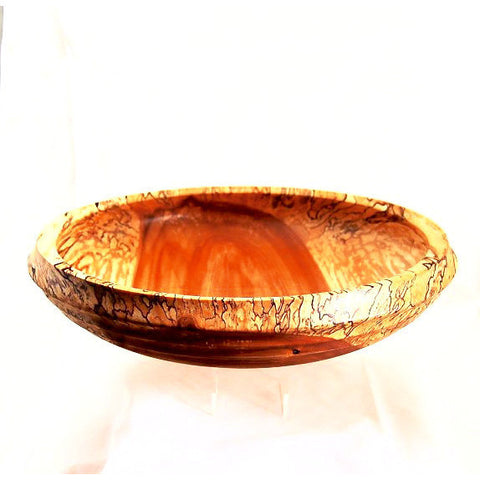 SPALTED BIRCH SALAD BOWL - Side Street Studio  - 1