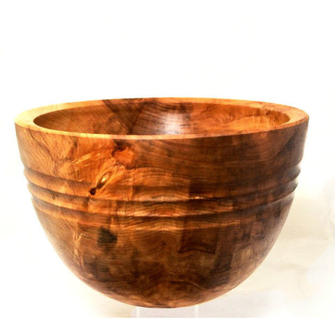 MAPLE WOOD DEEP SALAD BOWL - Side Street Studio - 1
