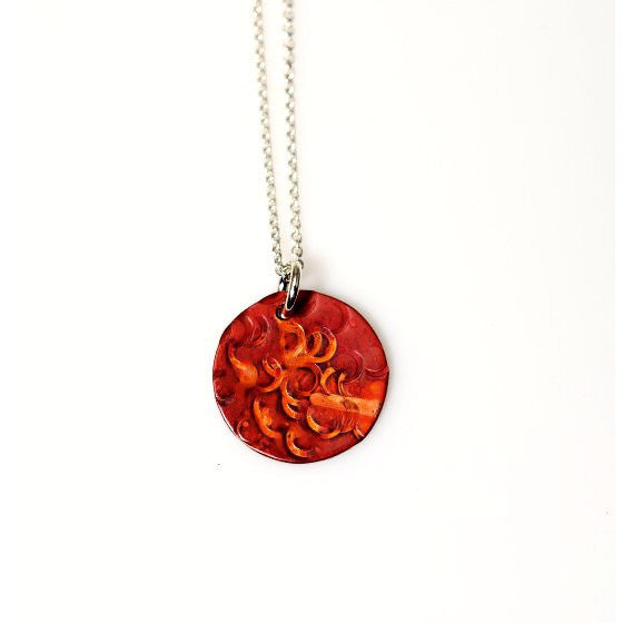 SMALL COPPER CIRCLE NECKLACE - Side Street Studio
