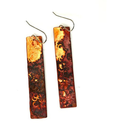 COPPER SKINNY EARRINGS - Side Street Studio
