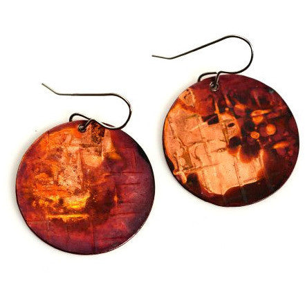 COPPER CIRCLE EARRINGS - Side Street Studio