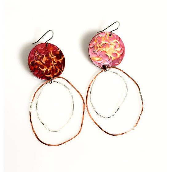 COPPER DANGLE EARRINGS - Side Street Studio